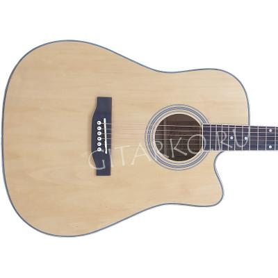 Гитара акустическая Foix дредноут цвет дерева матовая