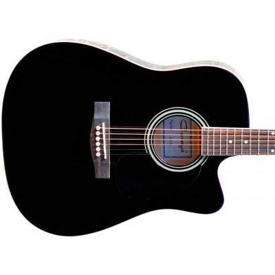 Гитара акустическая Caraya дредноут чёрная с вырезом