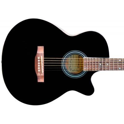 Гитара акустическая Martinez фолк чёрная
