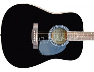 Гитара акустическая Martinez дредноут чёрная