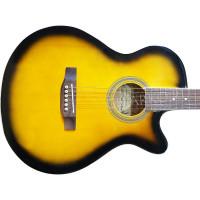 Гитара акустическая Martinez фолк санбёрст