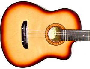 Гитара акустическая Тим 41 с мягким вырезом тёмно-коричневая