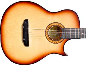 Гитара акустическая Тим 41 с острым вырезом тёмно-коричневая