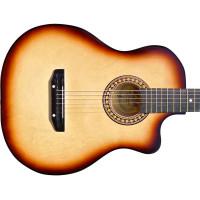 Гитара акустическая Тим 41 со средним вырезом тёмно-коричневая