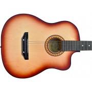 Гитара акустическая Тим 41 с мягким вырезом коричневая