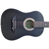 Гитара акустическая Тим 38 чёрная-матовая