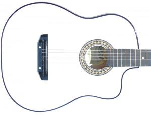 Гитара акустическая Тим 41 с мягким вырезом белая