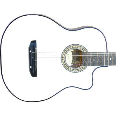 Гитара акустическая Тим 41 со средним вырезом белая