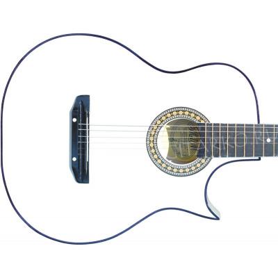 Гитара акустическая Тим 41 с острым вырезом белая