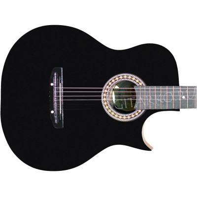Гитара акустическая Тим 41 с острым вырезом чёрная