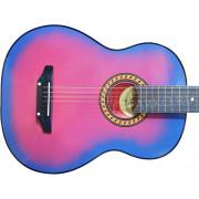 Гитара акустическая Тим розовая с голубым (Россия)