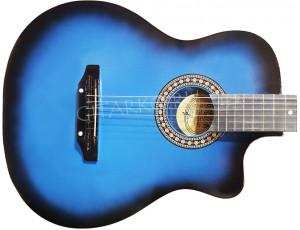Гитара акустическая Тим синий бёрст (Россия)
