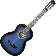 Гитара акустическая Тим 39 синяя с чёрным
