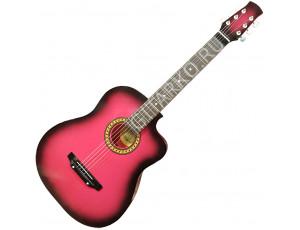 Гитара акустическая Тим 41 с мягким вырезом вишнёвая